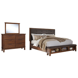 Ralene 5 Piece Bedroom Package - Dark Brown