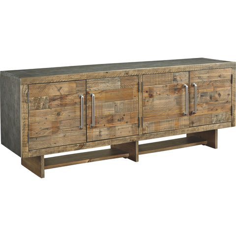 Mozanburg  Extra Large TV Stand - Rustic Brown
