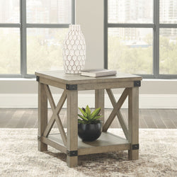 Aldwin End Table - Gray