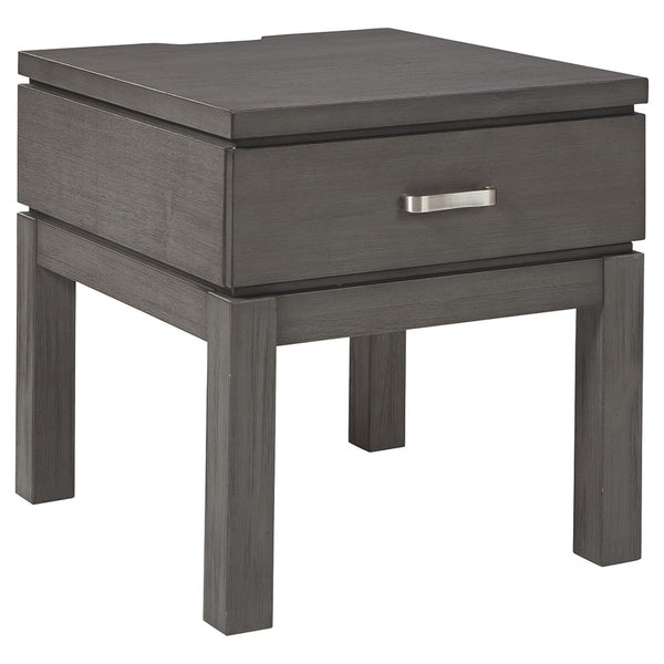 Caitbrook End Table - Gray