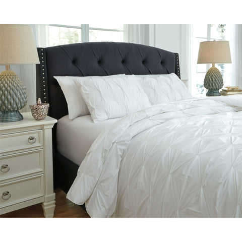 Rimy  3 Piece Duvet Set - White