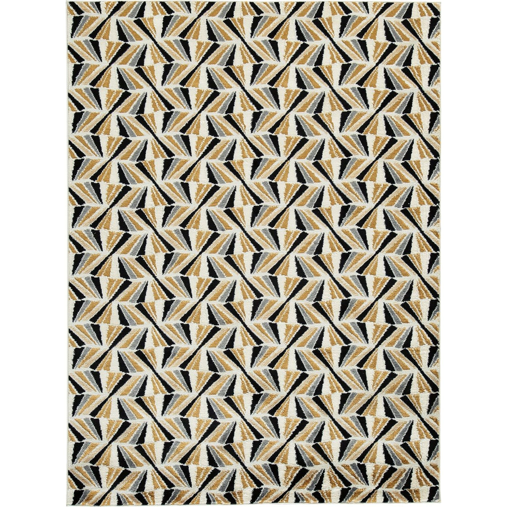 May  Area Rug - Black/Gold