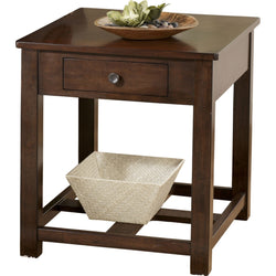 Marion End Table - Dark Brown