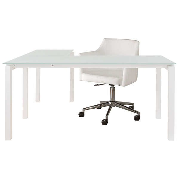 Baraga 2 Piece Home Office Package - White