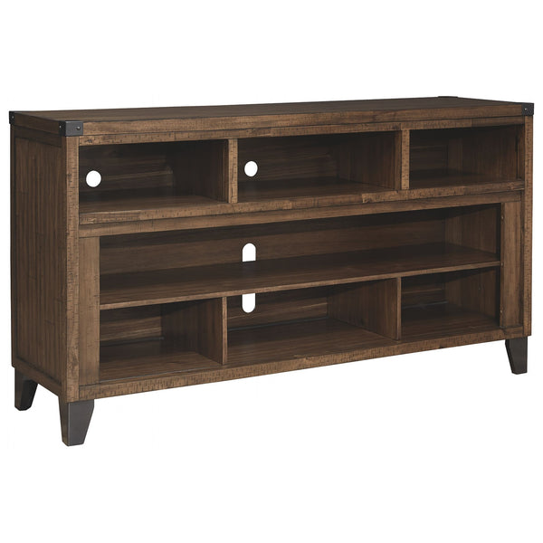 Royard Large TV Stand - Warm Brown