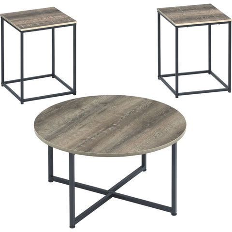 Wadeworth 3 Pack Tables - Two-tone