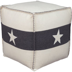Leonardo Pouf - White/Black