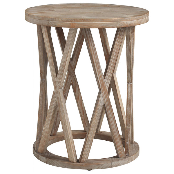 Glasslore End Table - Light Grayish Brown