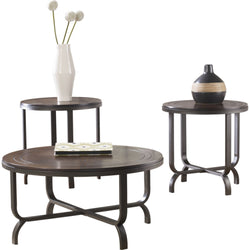Ferlin 3 Pack Tables - Dark Brown