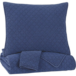 Ryter 3 Piece Coverlet - Blue