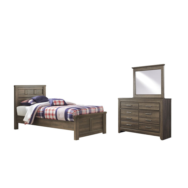 Juararo 5 Piece Twin Bedroom - Dark Brown