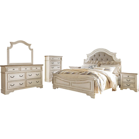 Realyn 6 Piece King Bedroom - White
