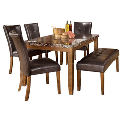 Lacey 6 Piece Dining Room - Medium Brown