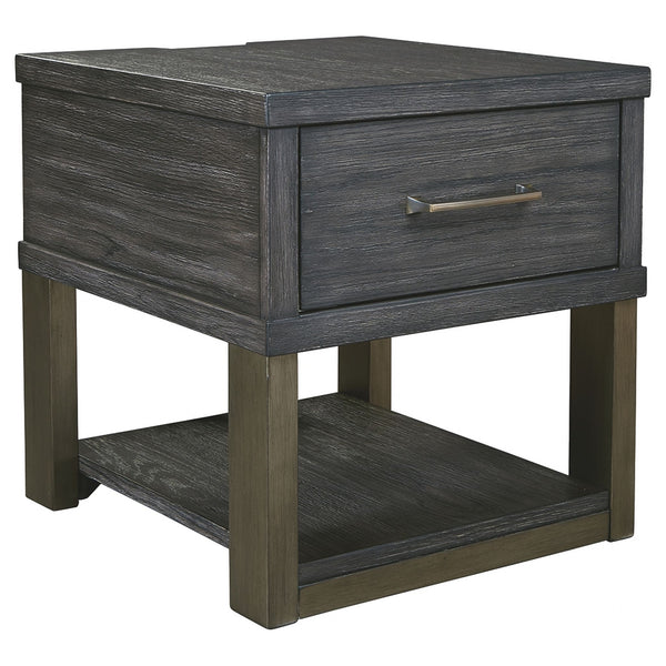 Forleeza End Table - Dark Gray