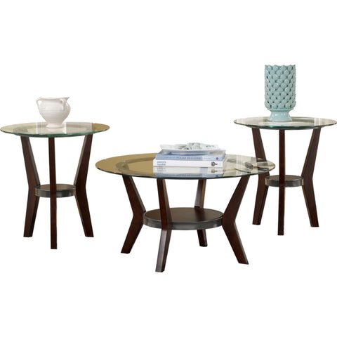 Fantell 3 Pack Tables - Dark Brown