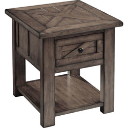 Garrett End Table - Charcoal