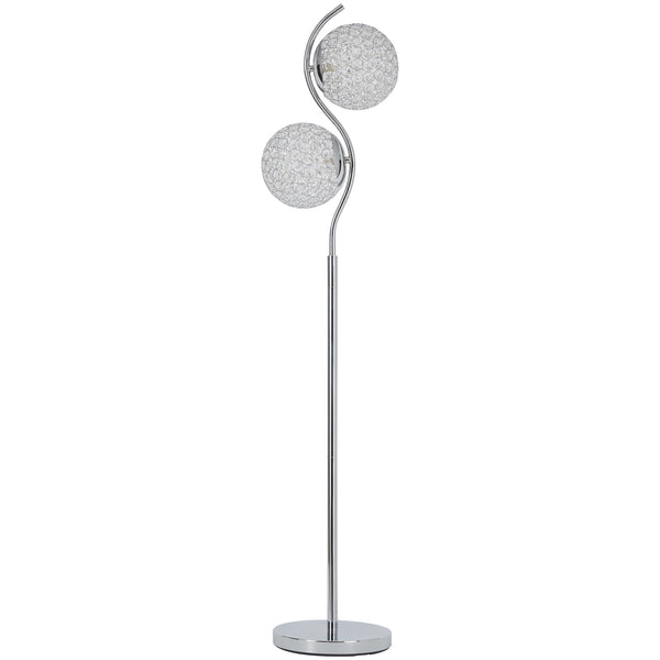 Winter Floor Lamp - Clear/Silver Finish