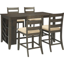 Rokane  5 Piece Pub Dining - Brown