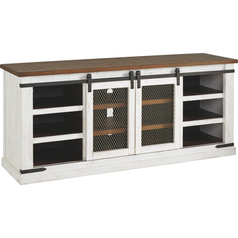 Wystfield Extra Large TV Stand - White/Brown
