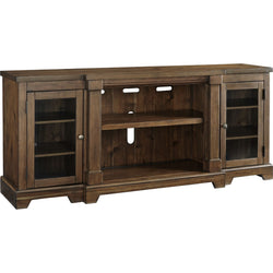 Flynnter  Large TV Stand - Medium Brown