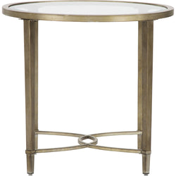 Copia End Table - Antique Silver