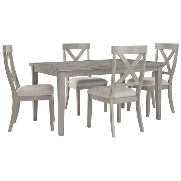 Parellen 5 Piece Casual Dining - Barnwood