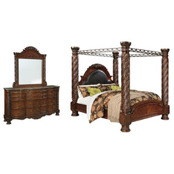 North Shore 5 Piece Bedroom Package - Dark Brown