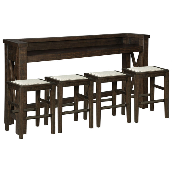 Artisan 5 Piece Pub Dining - Dark Brown