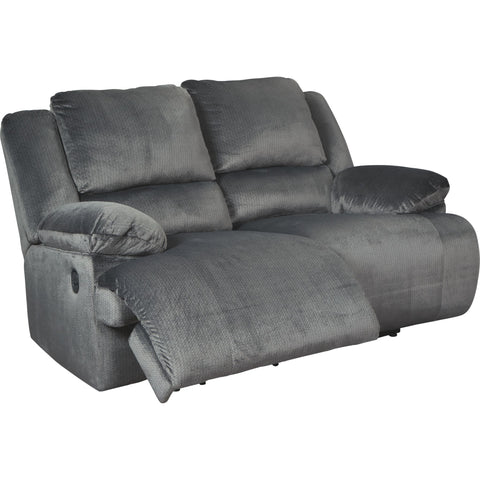 Clonmel Reclining Loveseat - Charcoal