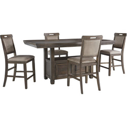 Johurst 5 Piece Pub Dining - Grey