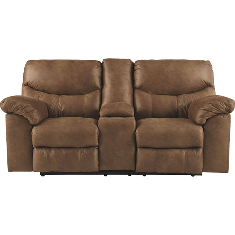 Boxberg Reclining Loveseat with Console - Bark