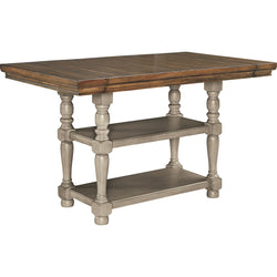 Lettner Counter Table - Gray/Brown