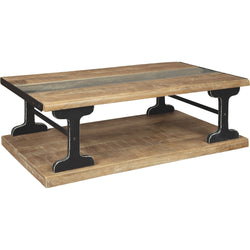 Calkosa Coffee Table - Brown/Black
