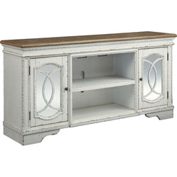 Realyn Large TV Stand - Chipped White