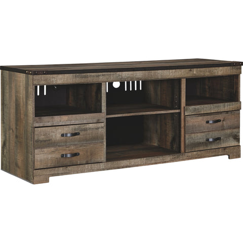 Trinell Large TV Stand - Rustic Brown
