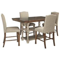 Lettner 5 Piece Pub Dining - Gray/Brown