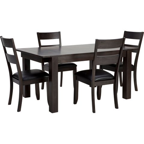 Extension 5 Piece Formal Dining - Warm Grey