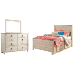 Josie 5 Piece Twin Bedroom - Whitewash