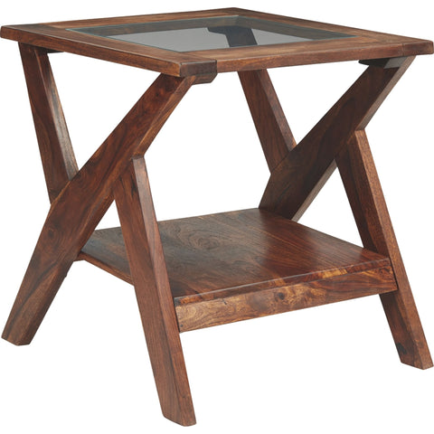 Madras End Table - Warm Brown