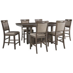 Johurst 7 Piece Pub Set - Grayish Brown