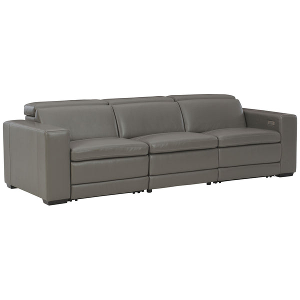 Texline 5 Piece Power Reclining Sectional - Gray