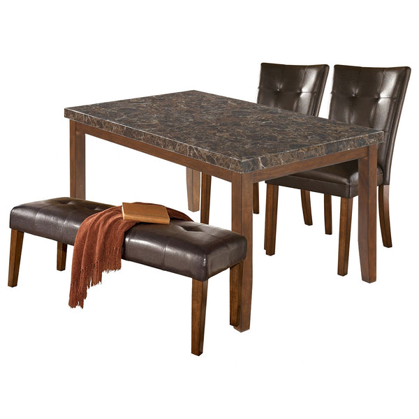 Lacey 4 Piece Casual Dining - Medium Brown