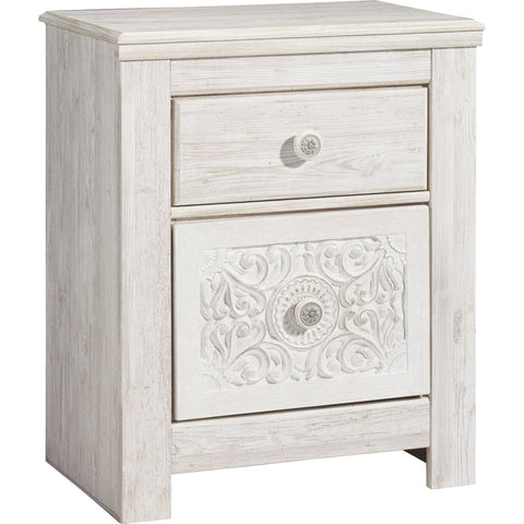 Jareth Nightstand - White Wash