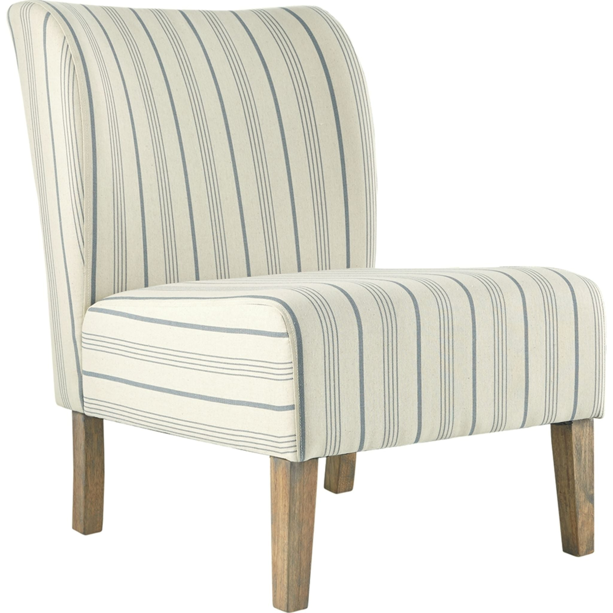Triptis Accent Chair - Cream/Blue