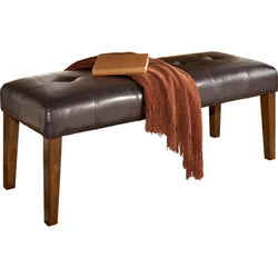 Lacey Bench - Medium Brown
