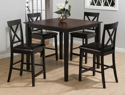 Burley Brown and Black 5-Piece Casual Pub Table & Counter Height Chair Set