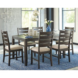 Rokane 7 Piece Casual Dining - Brown