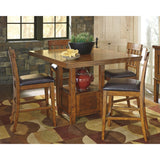 Haddigan 5 Piece Casual Dining - Brown