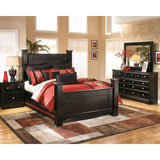 Dawson 7 Piece Queen Poster Bedroom - Black