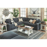 Shelley 5 Piece Sectional - Charcoal